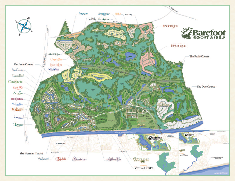 Barefoot Resort Property Map